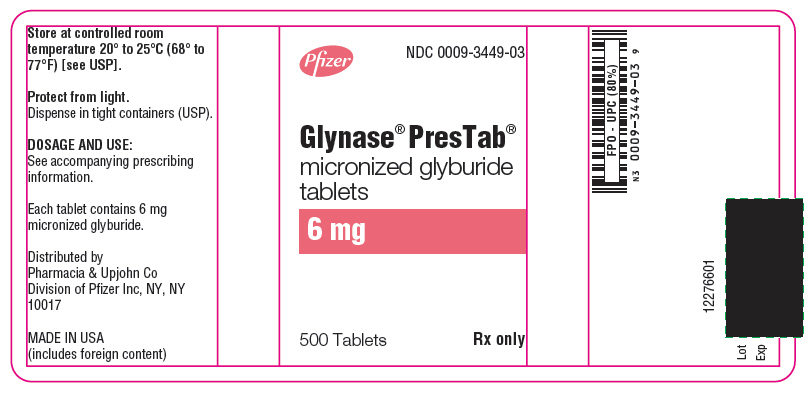 PRINCIPAL DISPLAY PANEL - 6 mg - 500 Tablet Bottle Label